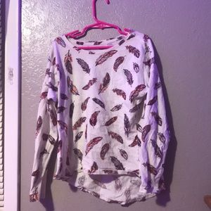 Old navy kids long sleeve shirt with feathers